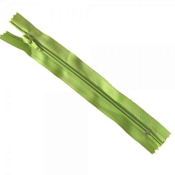 Reißverschluss, ca.18cm, limettengrün